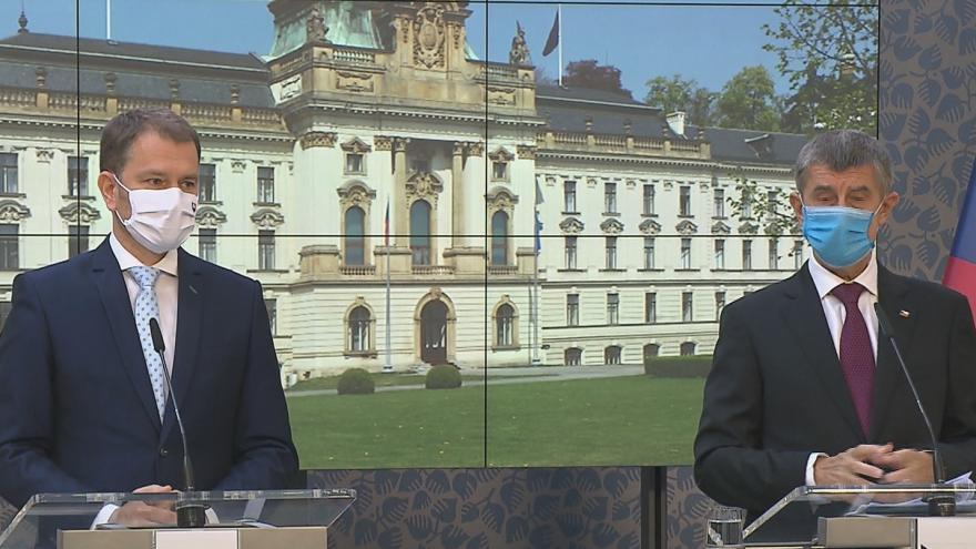 Video Brífink premiéra Andreje Babiše a slovenského předsedy vlády Igora Matoviče