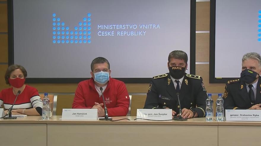 Video Tisková konference ke shrnutí činnosti Ústředního krizového štábu