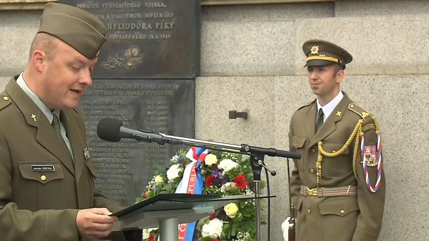 Video Pietní akt k uctění památky generála Heliodora Píky