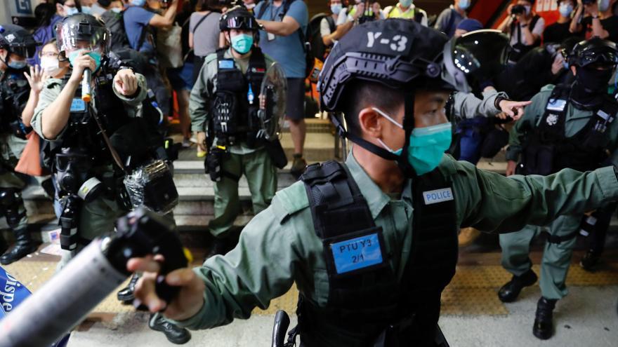 Video Zpravodajka ČT Barbora Šámalová o situaci v Hongkongu