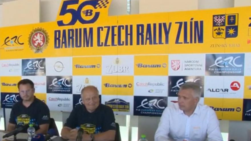 Video Tisková konference k 50. ročníku Barum Czech Rally Zlín