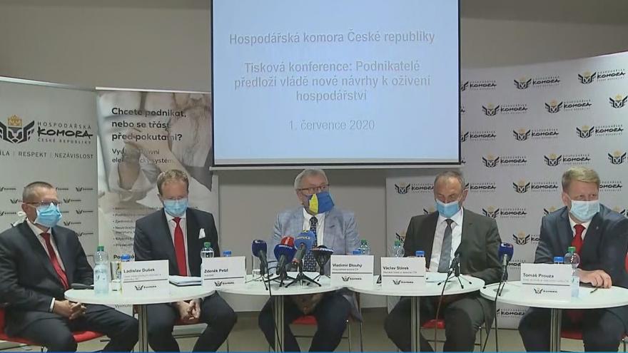 Video Tisková konference k novým návrhům na oživení českého hospodářství