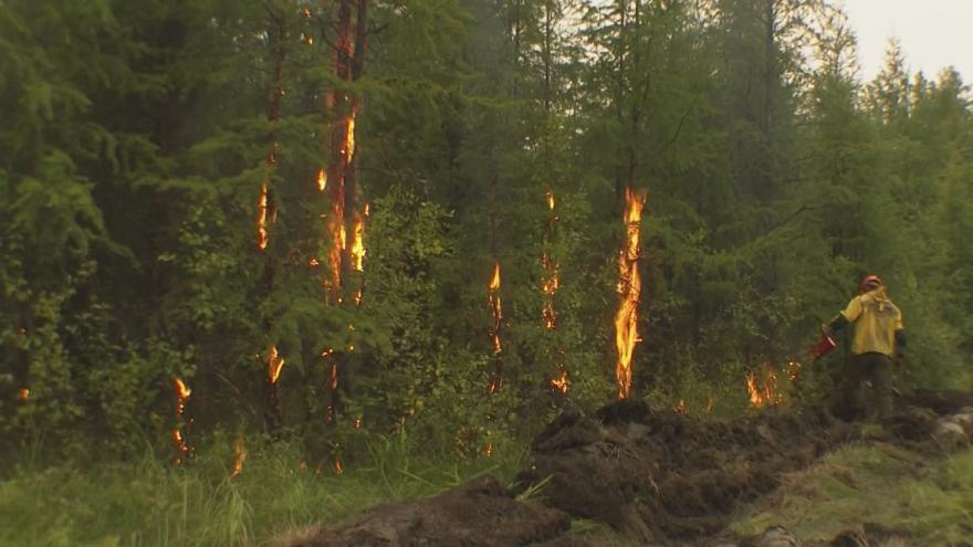 Video Hasiči bojují s požárem v Jakutsku. Rusko tam vyhlásilo nouzový stav