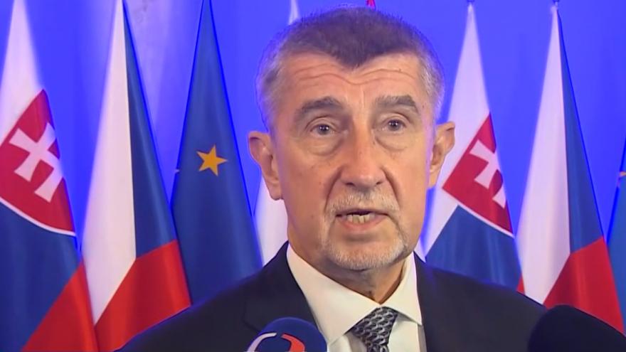 Video Brífink premiéra Andreje Babiše po setkání lídrů V4