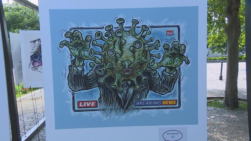 Video Události: Výstava karikatur v Bratislavě