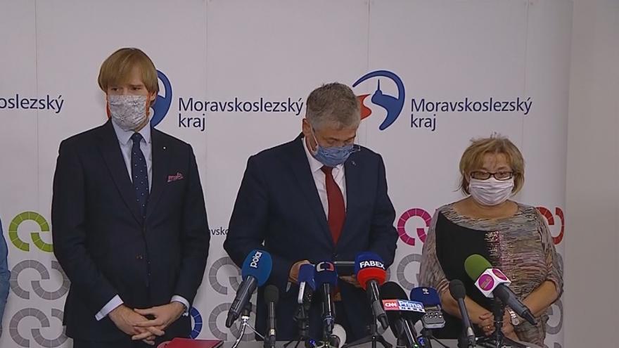 Video Tisková konference po jednání krizového štábu Moravskoslezského kraje
