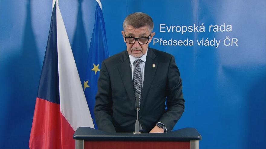 Video Tisková konference premiéra Andreje Babiše po summitu EU o podpoře ekonomiky
