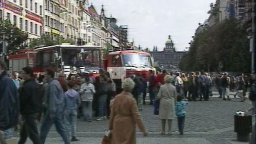 Video Pražští hasiči ve stávkové pohotovosti