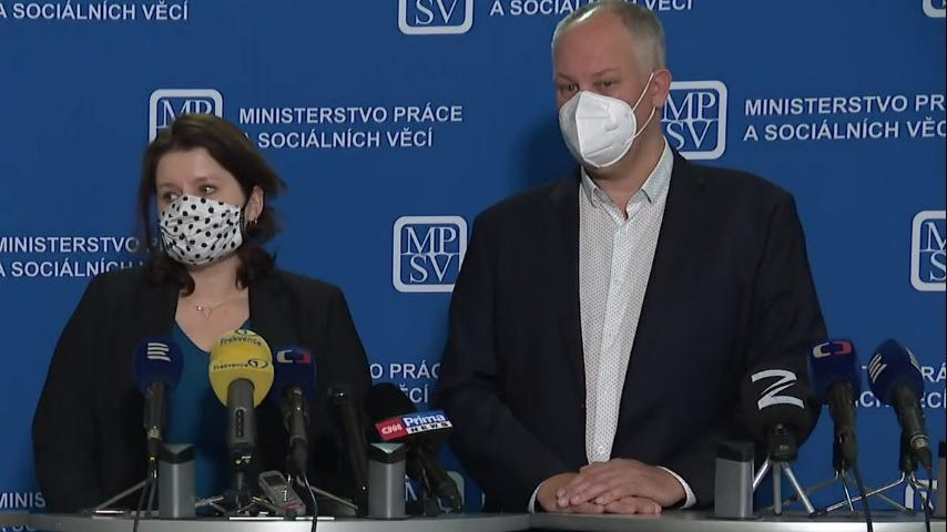 Video Brífink ministryně financí Maláčové k vývoji nezaměstnanosti v Česku za září 2020