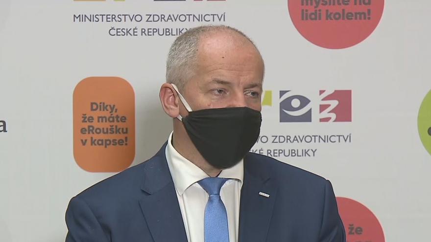 Video Brífink ministra zdravotnictví Romana Prymuly o epidemiologické situaci 2. října
