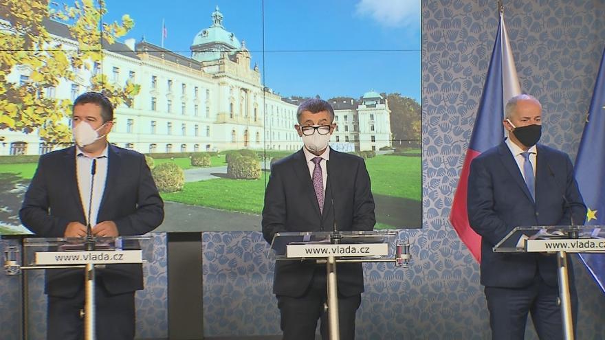 Video Mimořádní tisková konference po jednání vlády 12. října