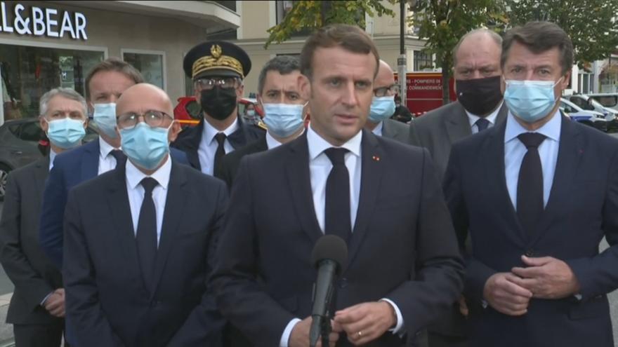 Video Vyjádření francouzského prezidenta Macrona k útoku v Nice