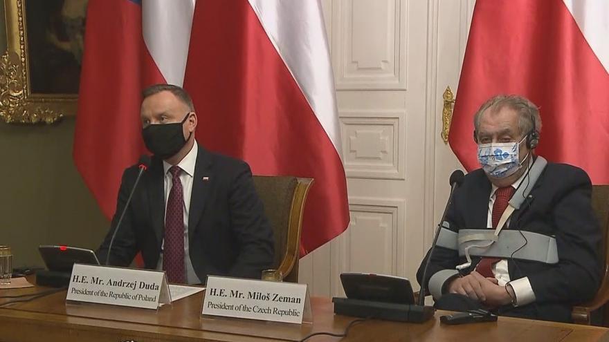 Video Brífink prezidenta Miloše Zemana po návštěvě polské hlavy státu Andrzeje Dudy