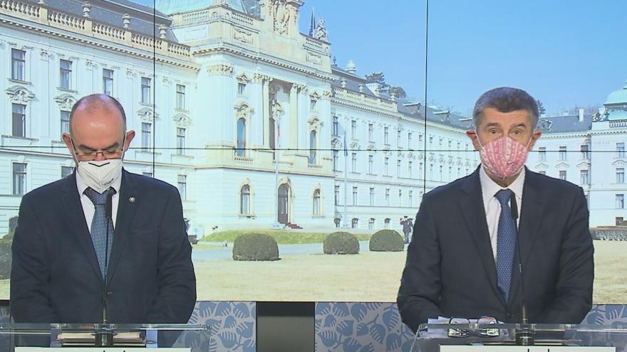 Video Tisková konference vlády o momentální epidemiologické situaci v Česku 21. prosince