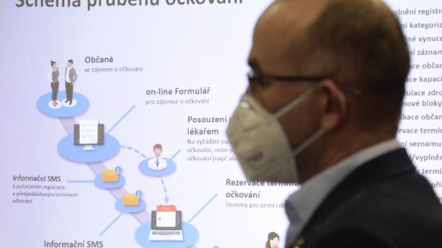 Video Brífink ministerstva zdravotnictví k PES a očkovací strategii v Česku