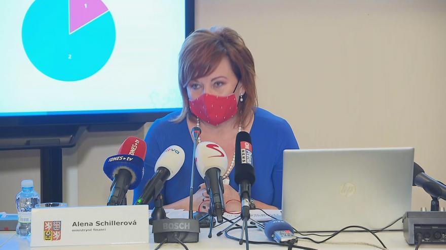 Video Brífink ministryně financí Schillerové o schodku státního rozpočtu v roce 2020