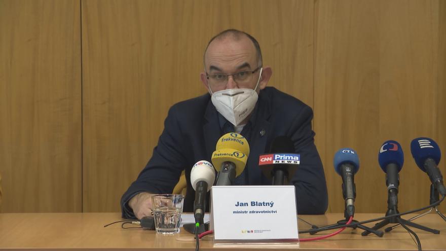 Video Brífink ministerstva zdravotnictví z 8. ledna