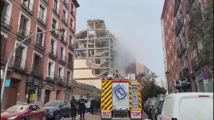 Video Centrum Madridu po explozi