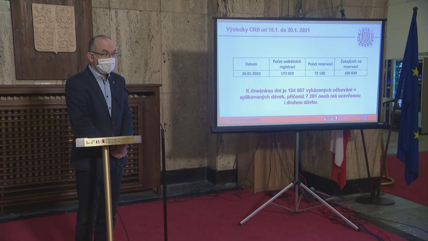 Video Brífink ministra zdravotnictví Jana Blatného k aktualizaci centrálního rezervačního systému na očkování