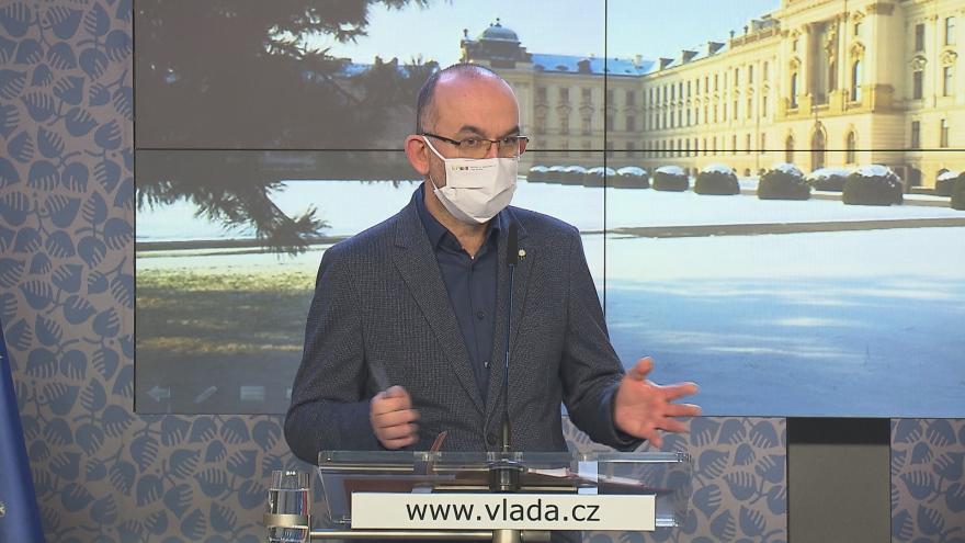 Video Tisková konference ministra zdravotnictví Jana Blatného z 22. ledna