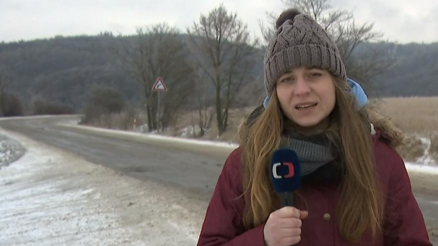 Video Sníh komplikoval dopravu na jihu Moravy