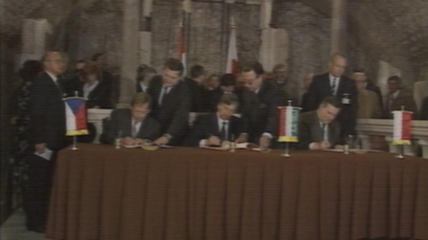 Video Podpis Visegrádské smlouvy