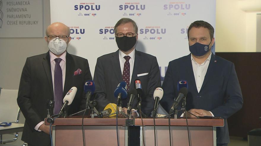 Video Brífink opozičních lídrů k rozhodnutí sněmovny neprodloužit nouzový stav