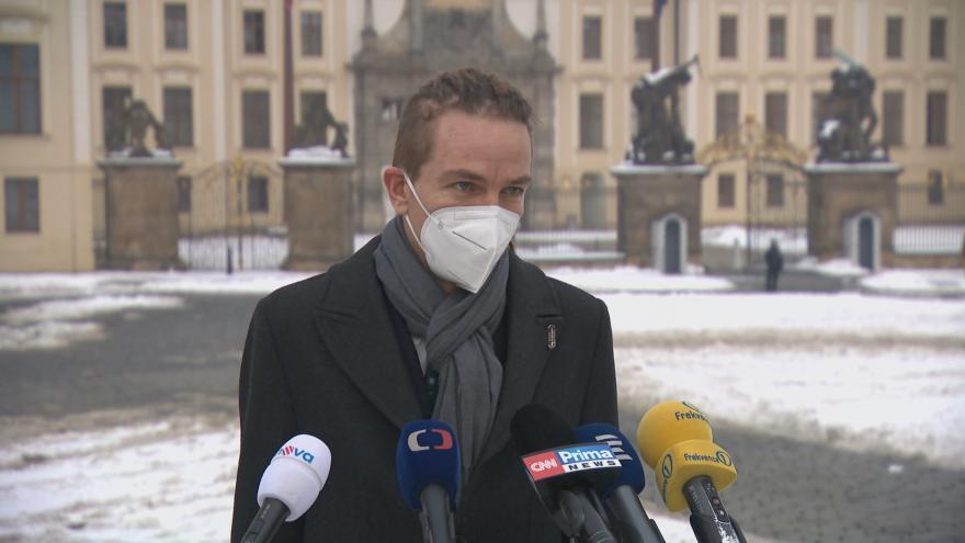 Video Brífink předsedy Pirátů Bartoše po jednání s prezidentem