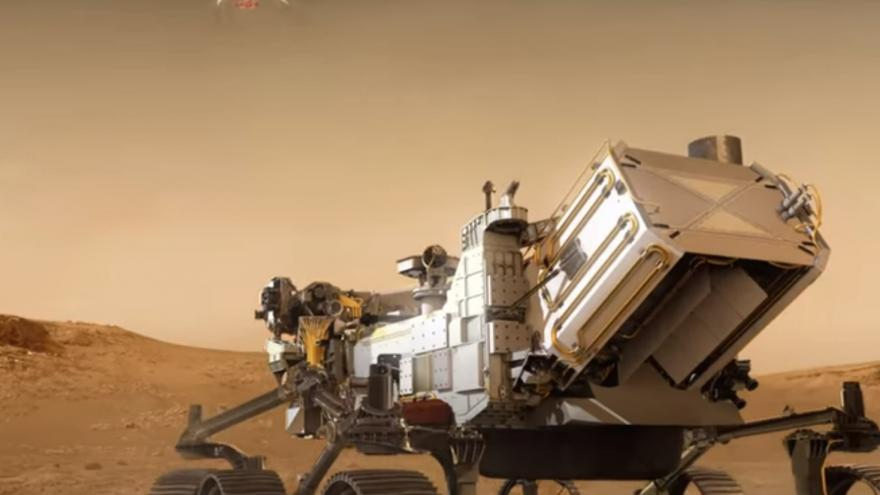 Video Přistání Perseverance na Marsu
