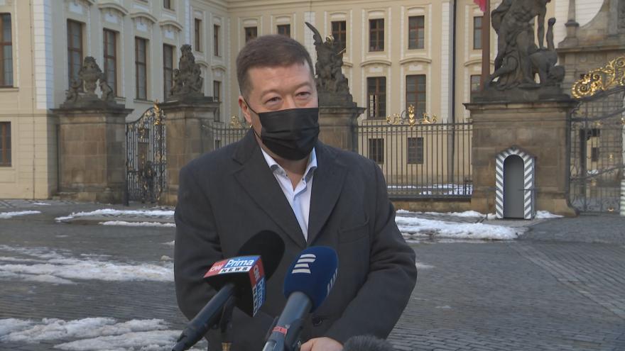 Video Tomio Okamura (SPD) po jednání s prezidentem Zemanem
