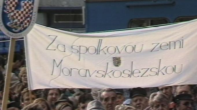 Video Demonstrace Moravanů za samostatnost
