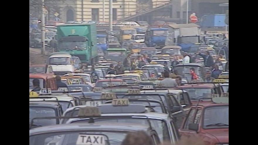 Video Protest pražských taxikářů