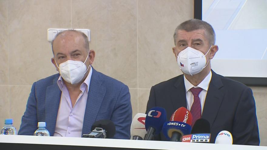 Video Brífink premiéra Babiše k projektu pandemické nemocnice