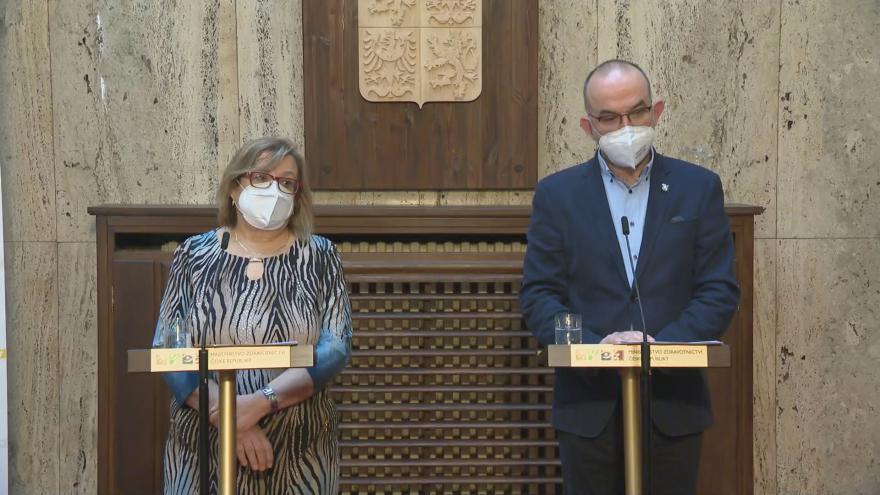 Video Tisková konference ministra zdravotnictví Jana Blatného z 26. března