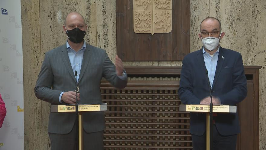 Video Tisková konference ministrů Blatného a Plagy z 1. dubna