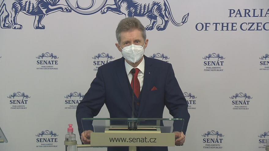 Video Tisková konference předsedy Senátu Miloše Vystrčila (ODS) k aktuální politické situaci
