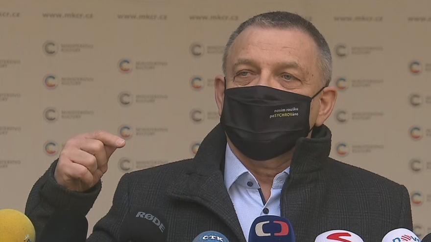 Video Vyjádření ministra kultury Zaorálka ke změnám ve vedení rezortů
