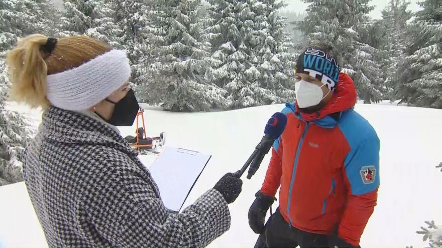 Video Studio ČT24: Další sněžení v Jeseníkách