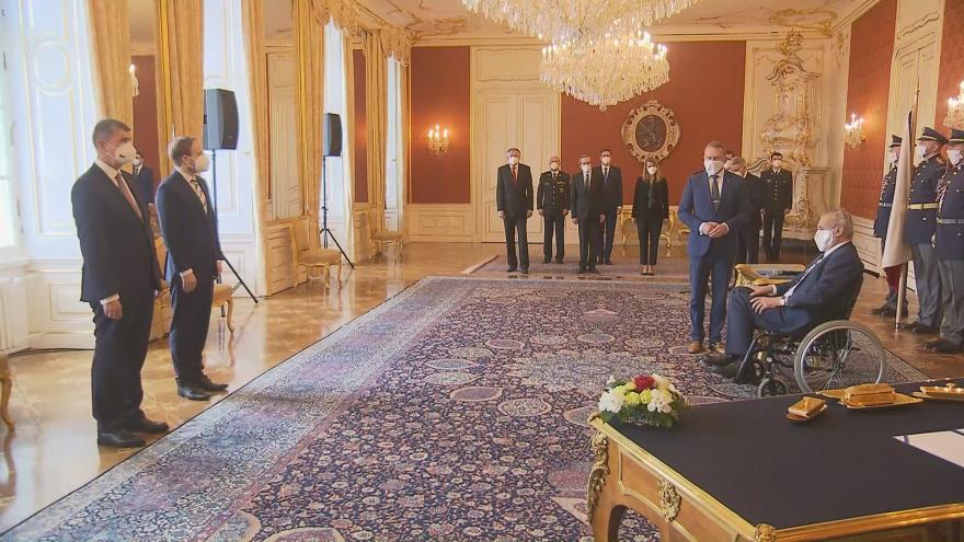 Video Jmenování Jakuba Kulhánka ministrem zahraničí