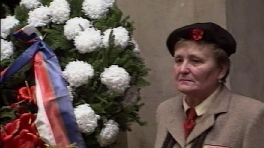 Video Poslední rozloučení se sokolskou náčelnicí Marií Provazníkovou