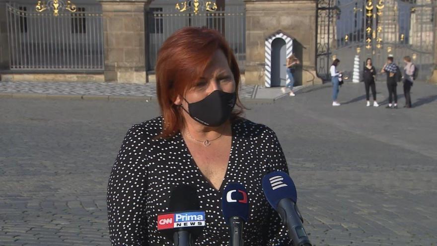 Video Studio ČT24: Ministryně financí Alena Schillerová (za ANO) po jednání s prezidentem