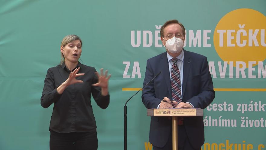 Video Brífink ministerstva zdravotnictví k vývoji epidemické situace v Česku