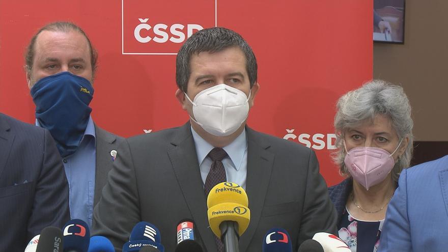 Video Tisková konference ministra vnitra Jana Hamáčka