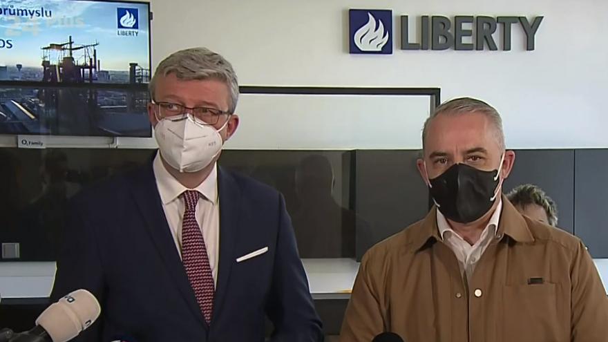 Video Tisková konference k situaci v Liberty Ostrava