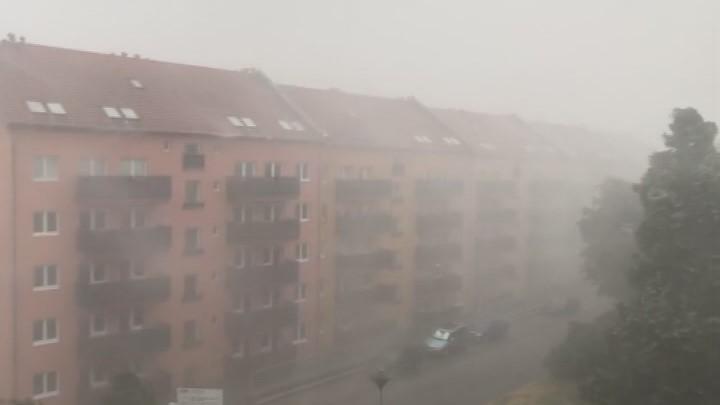 Video iReportér: Bouře zasáhla část Brna