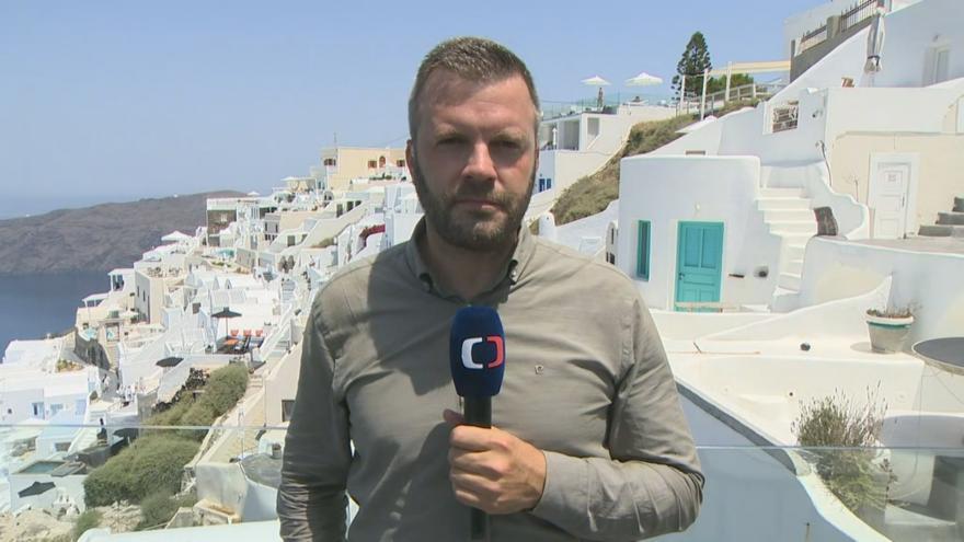 Video Studio ČT24: Zpravodaj Černohorský k podmínkám pro cestování do Řecka