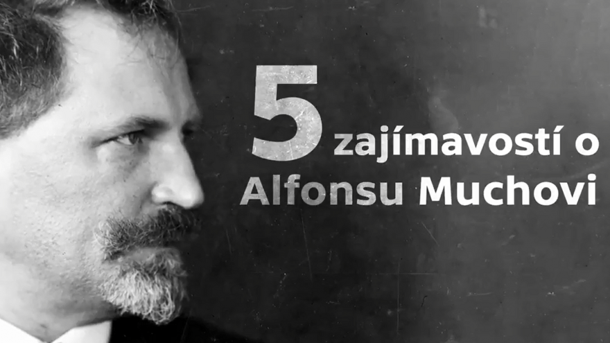 Video Události v regionech: Pět zajímavostí o Alfonsu Muchovi