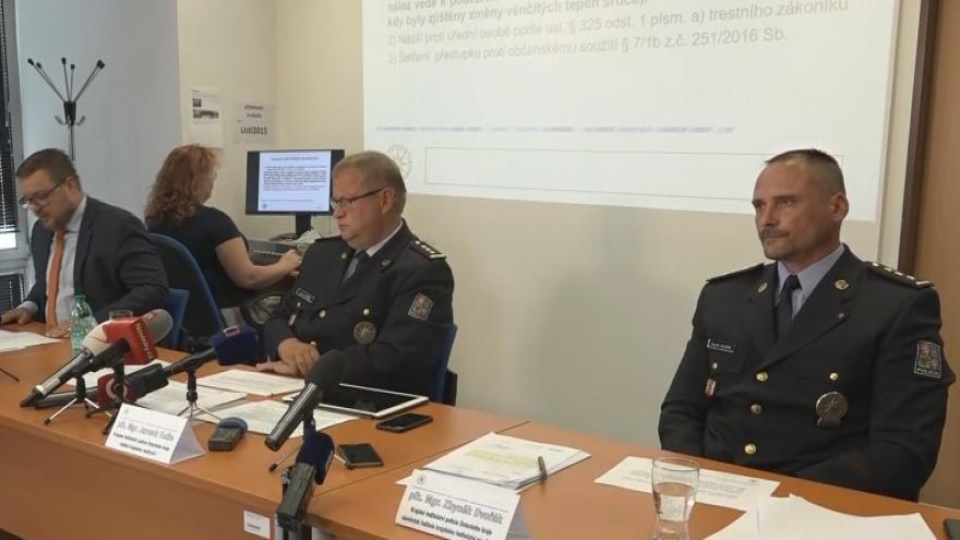 Video Brífink vedení policie k případu v Teplicích