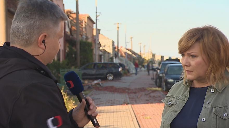 Video Ministryně financí Alena Schillerová z tornádem zničené Lužice