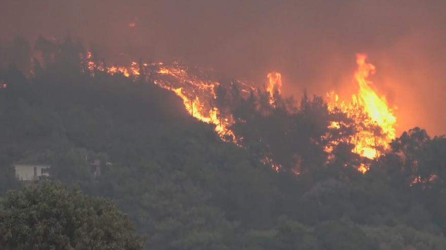 Video Lesní požáry na řeckém ostrově Rhodos